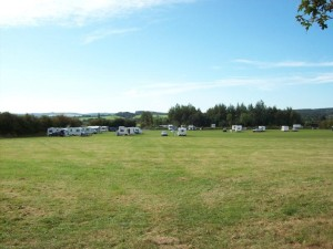 The rally field with views towards Cannock Chase